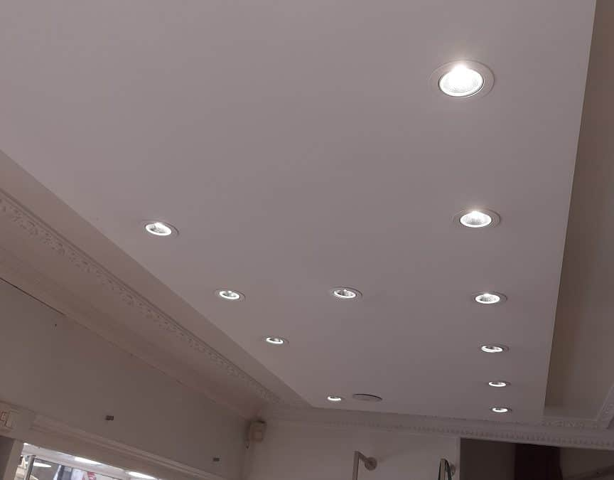 Rénovation électrique et éclairages LED pour un commerce de La Rochelle